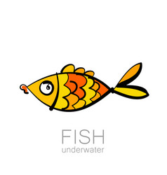 fish underwater vector image