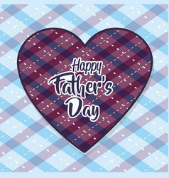 heart with a message of father day celebration vector image vector image