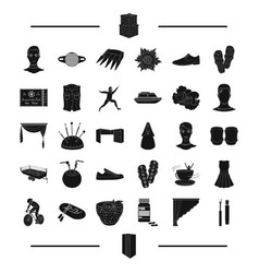 Interior entertainment sport and other web icon vector