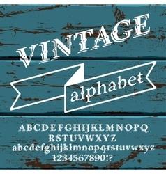 Retro Font on wood vector image