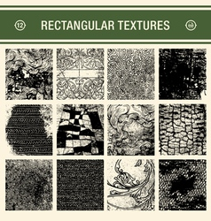 12 detailed grunge textures vector image vector image