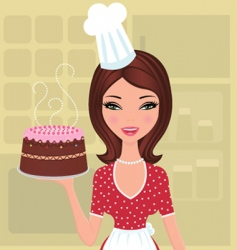 beautiful baker vector image
