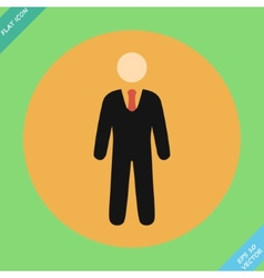 Businessman web icon - vector image vector image