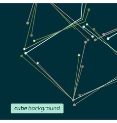 Cube background vector image vector image