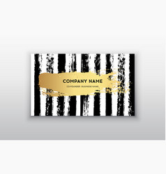 golden business card with brush vector image vector image