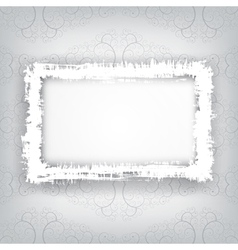 grungy frame vector image vector image