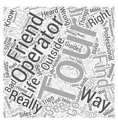 tour operators Word Cloud Concept vector image vector image