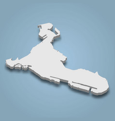 3d isometric map abu dhabi is an island vector