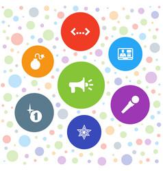 7 speech icons vector