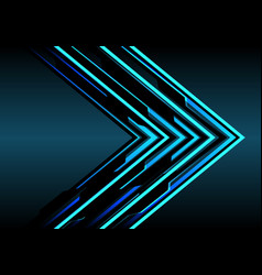 abstract blue arrow light technology direction vector image