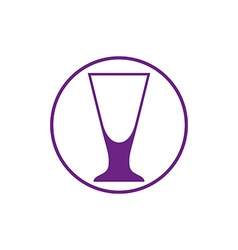 Alcohol beverage theme icon cocktail glass placed vector