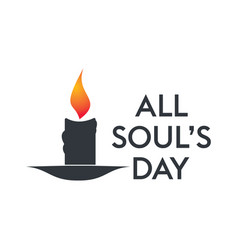 All souls day type design vector