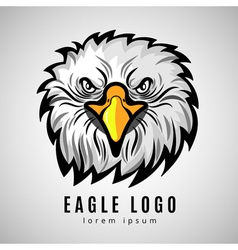 American eagle head logo or bald eagles label vector