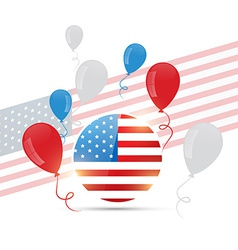 american flag design with balloons vector image