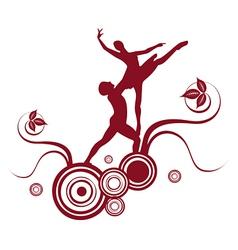Ballet abstract design 2 vector