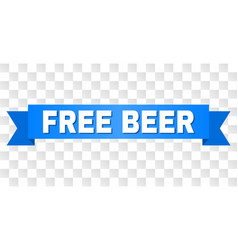 Blue tape with free beer title vector