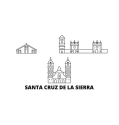 Bolivia santa cruz de la sierra line travel vector