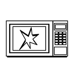 Broken microwave oven icon vector
