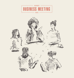 business women working new project meeting vector image