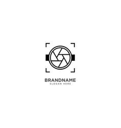 Camera logo design photography symbol icon vector