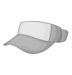Cap without top icon gray monochrome style vector