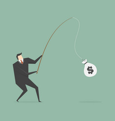 catching money vector image
