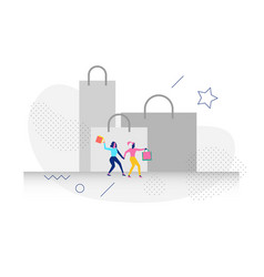 character in shopping concept vector image