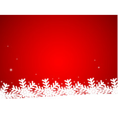 christmas shiny background with snowflakes vector image