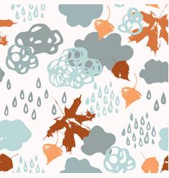 cool watercolour rainy clouds raindrops falling vector image