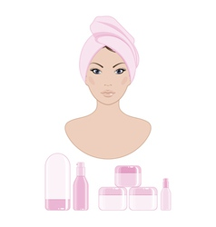 cosmetics vector image