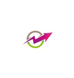 creative arrow circle logo design vector image