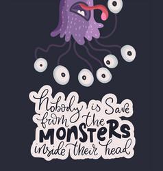 cute cartoon monsters vector image