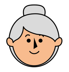 cute grandmother avatar character vector image