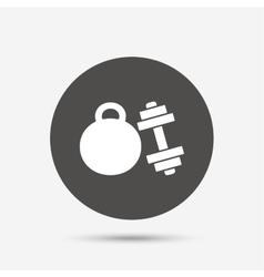 Dumbbells sign icon Fitness sport symbol vector image
