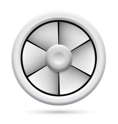 Electric plastic fan on white background for vector