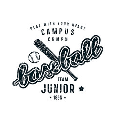 Emblem of baseball junior team vector
