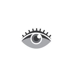 eye vision with eyelashes for logo design vector image