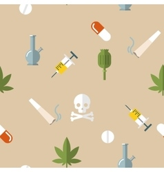 Flat Drugs Pattern vector image