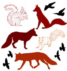 Forest critters vector
