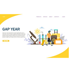 gap year website landing page design vector image