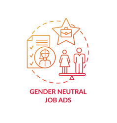 Gender neutral job ads concept icon vector