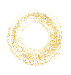 gold grunge ring vector image