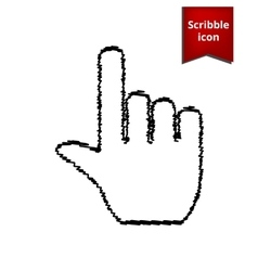 Hand icon with pen effect vector image