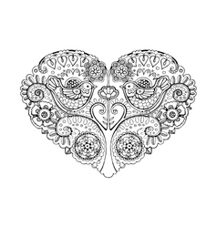 Heart design coloring book vector