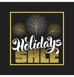 Holidays sale vector