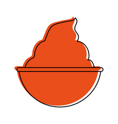 ice cream in cup icon imag vector image vector image