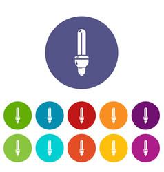light bulb energy icon simple black style vector image