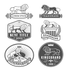 Lion labels vector image
