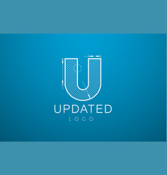 Logo template letter u in the style vector