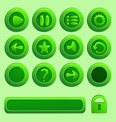 mobile green elements for ui game - a set play vector image